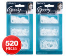 2 x Goody Ouchless 260-Piece Latex Elastics - Clear 1