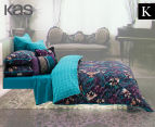 KAS Vienna King Bed Quilt Cover Set - Multi  1