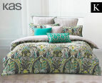 KAS Rania King Bed Quilt Cover Set - Multi  1