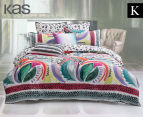 KAS Liliko King Bed Quilt Cover Set - Multi  1