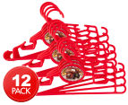 3 x Cars Coat Hanger 4pk - Red 1
