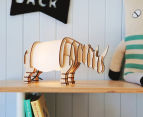 Lumi Co by Delight Decor 3D LED Timber Table Lamp - Rhino 2