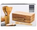 David & Waddell Essentials Bamboo 7-Piece Bread Bin & Tool Set 6