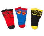Batman vs Superman Kids' Crew Socks 3-Pack - Multi  1