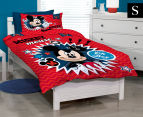 Disney Mickey Mouse Clubhouse Single Bed Quilt Cover Set - Red 1