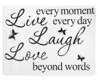 Live Laugh Love Quote Decal 2
