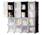 16-Cube 145cm Storage Wardrobe - Black 1