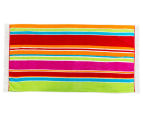 Velour 100x180cm Lines Beach Towel - Multi 1