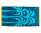 Velour 100x180cm Palm Trees Beach Towel - Navy 1