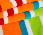 Velour 100x180cm Lines Beach Towel - Multi 2
