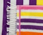 Velour 100x180cm Stripe Beach Towel - Multi 3