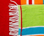 Velour 100x180cm Lines Beach Towel - Multi 3