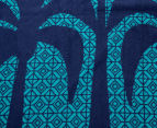 Velour 100x180cm Palm Trees Beach Towel - Navy 5