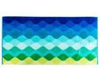 Velour 100x180cm Waves Beach Towel - Multi 1