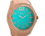 Fiorelli Women's 40mm Alice Watch - Rose Gold/Turquoise 2