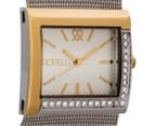 Fiorelli Women's 32mm Metallic Mesh Watch - Silver/Gold 2