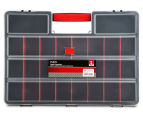 Dunn Plastic Organiser With 26 Removable Compartments - Black/Red 2