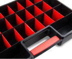Dunn Plastic Organiser With 26 Removable Compartments - Black/Red 4