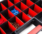Dunn Plastic Organiser With 26 Removable Compartments - Black/Red 5