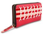 Spencer & Rutherford Gilda Zip Around Wallet - Porcelain 4