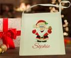 2 x Personalised Santa Christmas Tote Bag 4