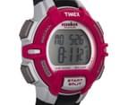 Timex Women's 30-Lap Rugged Sports Watch - Black/Pink/Silver  2