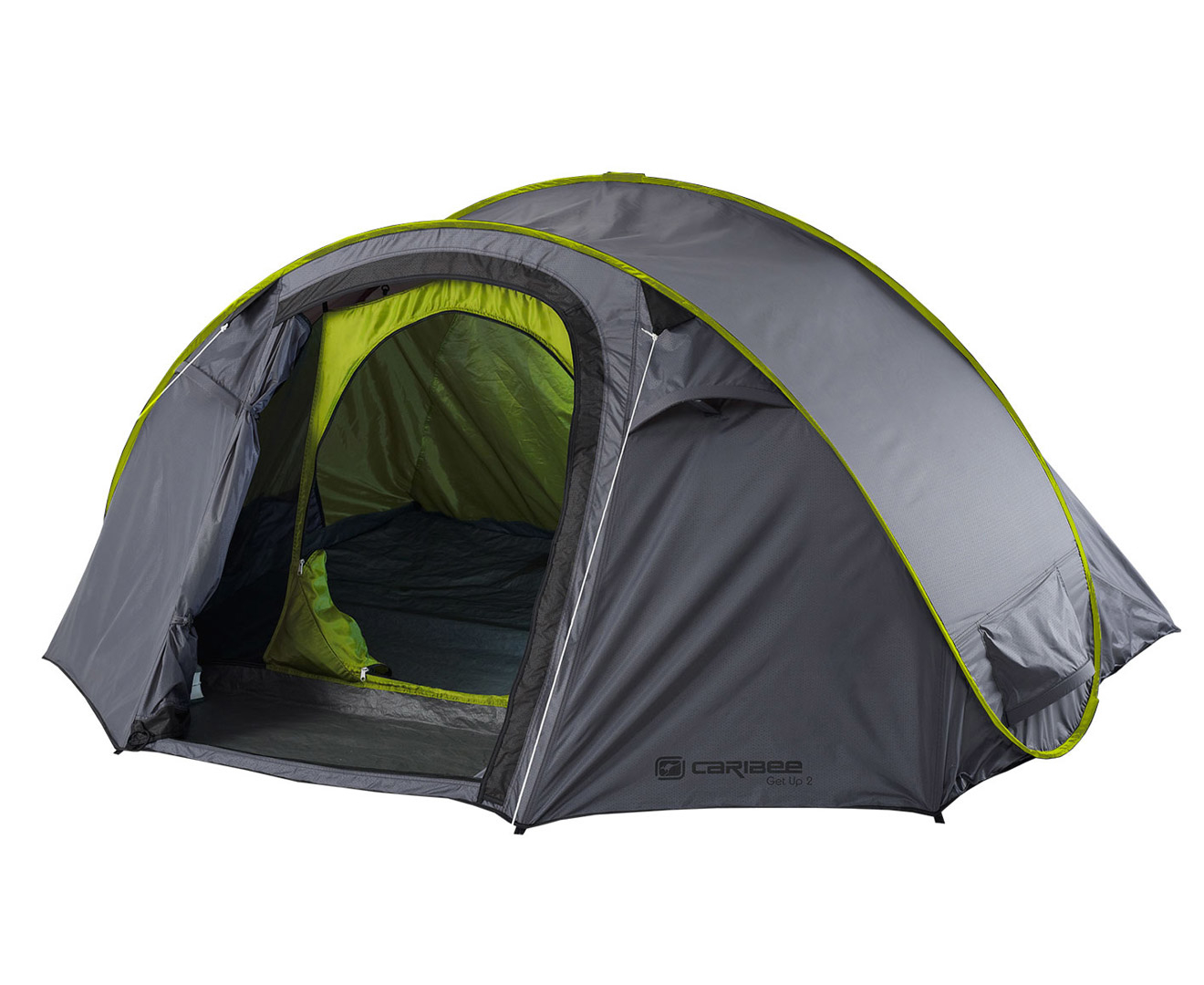Caribee Get Up 2-Person Instant Pop-Up Tent - Grey/Green  sc 1 st  eBay & Caribee Get Up 2-Person Instant Pop-Up Tent - Grey/Green | eBay