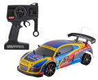 NQD 1/10 4WD Drift Racer Remote Control Car - Red/Yellow/Blue  1