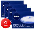 4 x Nivea Creme Care Bar 100g 1