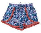 Funkybabe Junior Girls' Geo Print Shorts - Melon 1