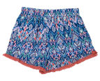 Funkybabe Junior Girls' Geo Print Shorts - Melon 2