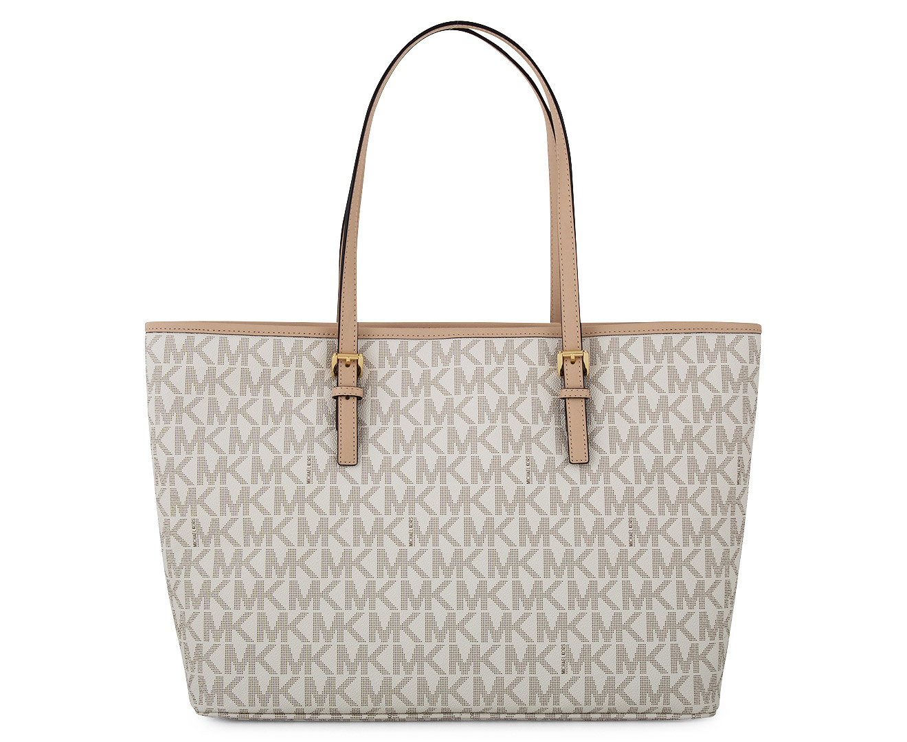 Bolsa Michael Kors Tote Vanilla : Michael kors jet set large logo tote bag vanilla great