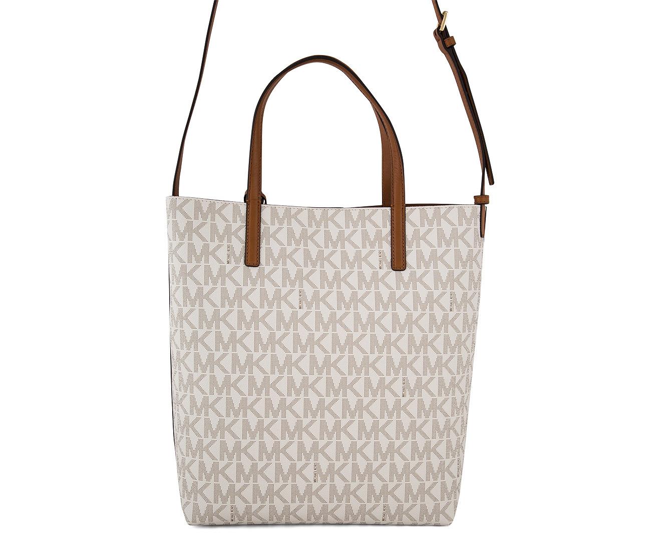 0e9af0833ab6 Michael Kors Hayley Large Logo North-South Tote Bag - Vanilla Acorn ...