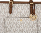 Michael Kors Jet Set Medium Logo Tote Bag - Vanilla 4