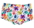 Plum Girls' Swimming Shorts - Floral 1