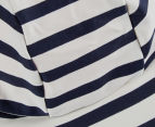 Plum Boys' Sun Cap - Navy Stripe 4