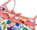 Plum Girls' Swimsuit - Floral 4