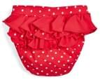 Plum Girls' Swimming Shorts - Red/White 2