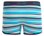 HK Man Men's Bold Stripe Trunk - Nile Blue/Peacoat 2