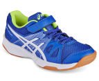 ASICS Pre-School Kids' Pre-Upcourt Shoe - Blue/White/Safety Yellow 2