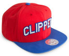 Mitchell & Ness Clippers Training Room Snapback - Red/Blue 2