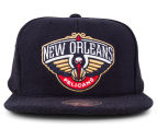 Mitchell & Ness New Orleans Pelicans Tonal Texture French Terry Snapback - Navy 1