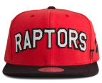 Mitchell & Ness Raptors Training Room Snapback - Red/Black/White 1