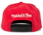 Mitchell & Ness Sandy Off White Chicago Bulls Snapback - Red/Black 4