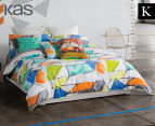 KAS Addy King Bed Quilt Cover Set - Multi  1