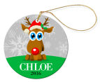 2 x Personalised Christmas Round Ornaments 2