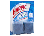 2 x Harpic Active Blue Foaming Freshener Block Twin Pack - 114g 2