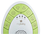 MyBaby By HoMedics SoundSpa On-The-Go Soother (Green and White) 5