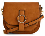 Cooper St Embrace Ring Front Crossbody Bag - Tan 1