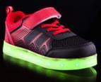 GLEAMKICKS Kids' Robo Gleamer Shoe - Black/Red 2